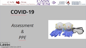 CAN-Sim: COVID-19 Assessment and PPE