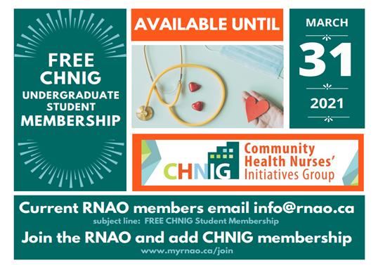 Free CHNIG Undergraduate Student Membership