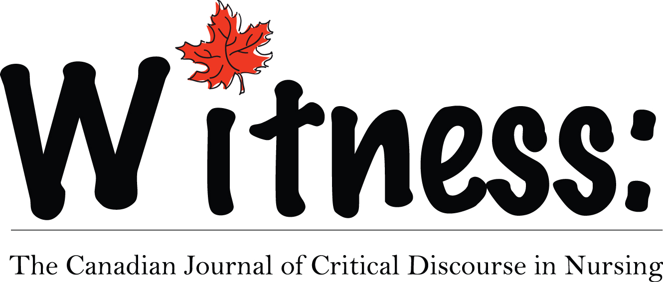 Call for Submission (Deadline July 1 st , 2021) Canadian Journal of Critical Nursing Discourse: Nursing (on) a Sick Planet