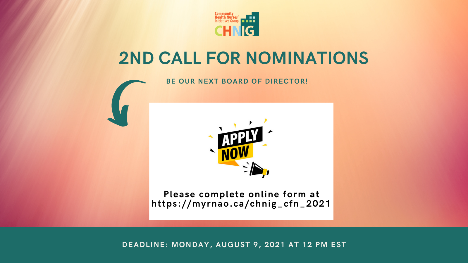 CHNIG 2nd Call for Nominations